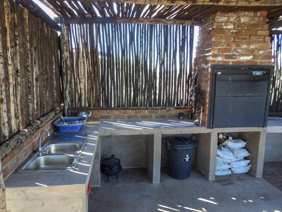 Camp area kitchen area