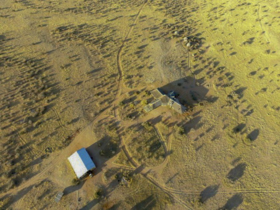 aerial drone view of wildheim wes farm